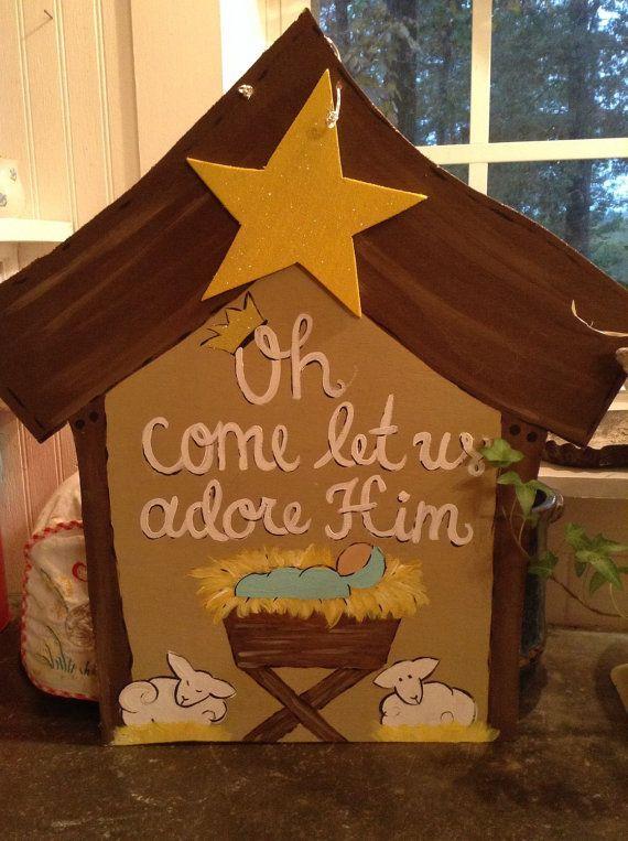 1000+ ideas about Christmas Door Hangers on Pinterest