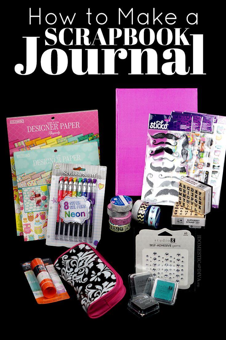 How to make a scrapbook journal diy smashbook supplies from walmart
