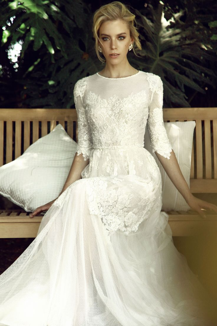 elegant wedding dress simple elegant wedding dress Finding a modest wedding dress has been made easier of late due to the trending of