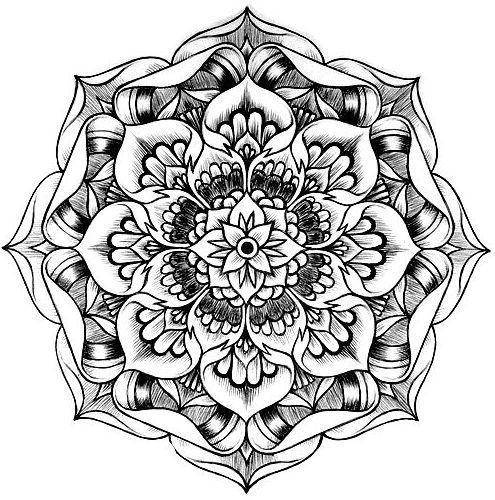 kaleidoscope coloring pages for adults auto electrical wiring diagram