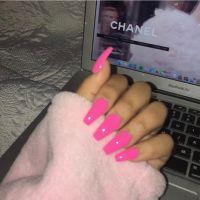 Best 25+ Hot pink nails ideas on Pinterest