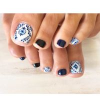 Best 25+ Blue toe nails ideas on Pinterest