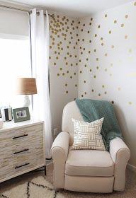 Teenage Girl Room White And Gold Polka Dot Wallpaper 17 Best Ideas About Polka Dot Nursery On Pinterest Polka