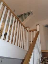 Best 25+ Oak handrail ideas on Pinterest | Glass stair ...