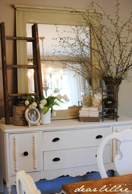 Short Dresser How To Decorate A Dining Room Hutch | Dining Room