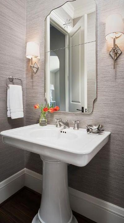 25+ best ideas about Powder Room Mirrors on Pinterest | Mirror powder, Black bathroom vanities ...