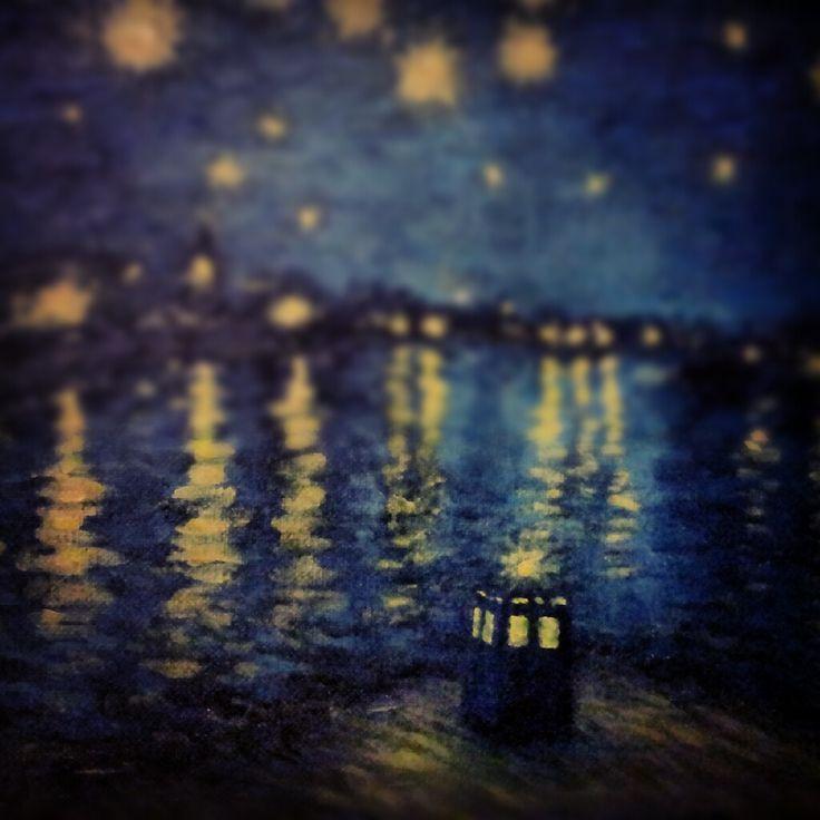 Cute Tardis Wallpaper Van Gogh Doctor Who Wallpaper Doctor Who Pinterest