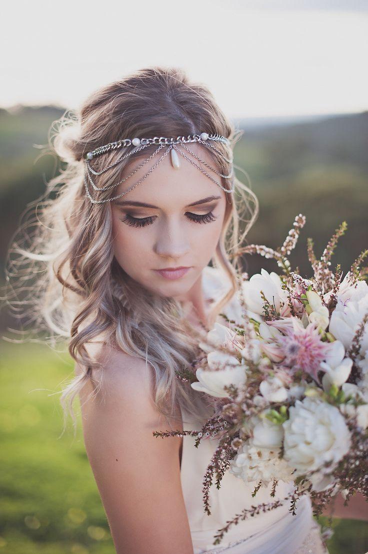 wedding head pieces hair pins wedding hair pieces wedding headbands boho wedding hairstyle with forehead band