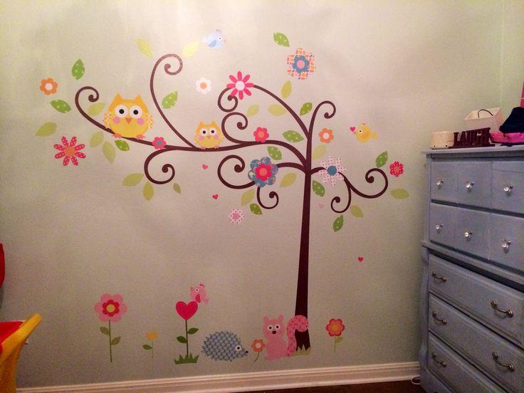 Baby Girl Wallpaper Pink Owl Bedroom Decor Little Girls Room Owl Themed Nursery
