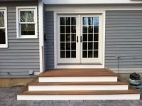 Steps to Patio Back Door | We recently finished the steps ...