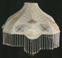 Victorian Beaded Embroidered Embroidery Boudoir Table Lamp ...