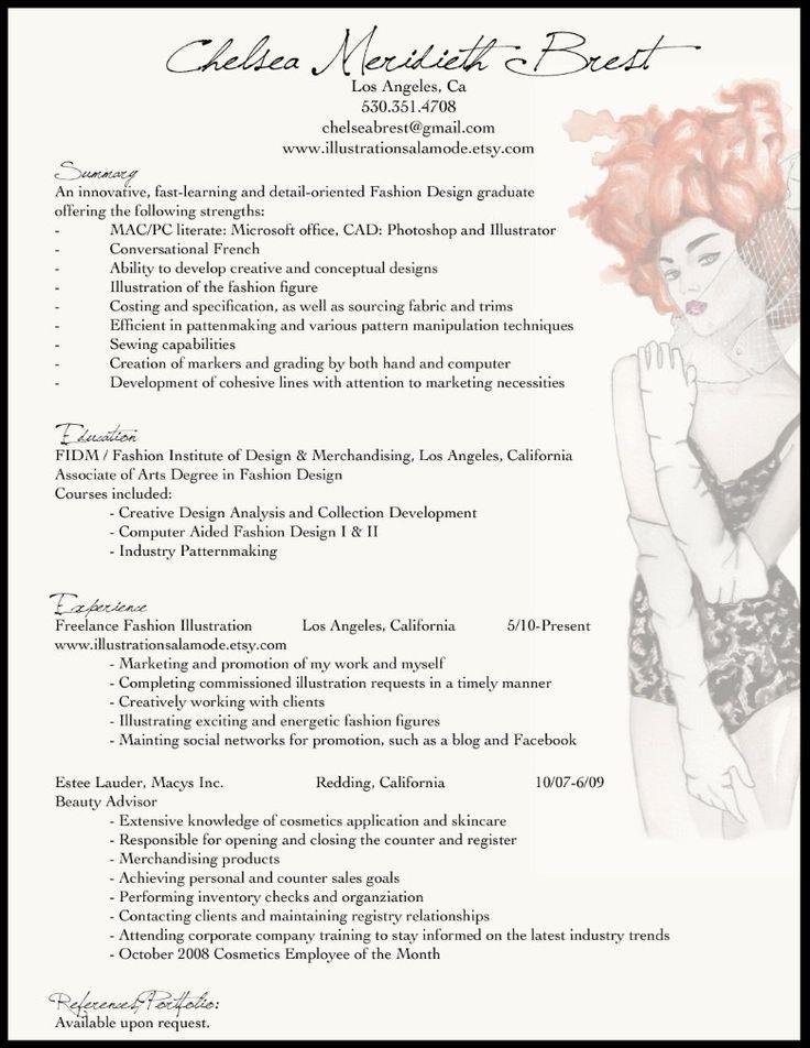 apparel design resume examples