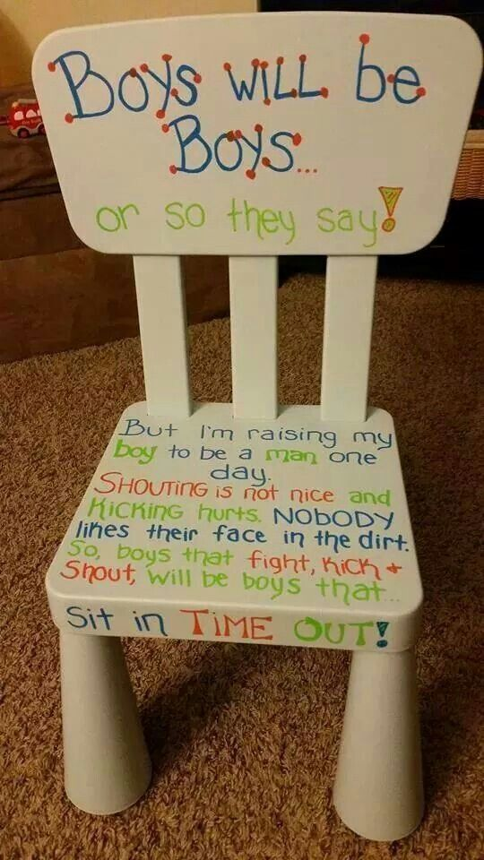 """Cute """"time out"""" chair that a friend posted on Facebook! I"""