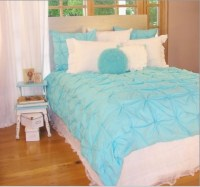 Girls teen bedding in blue and white | Teen Bedroom ...