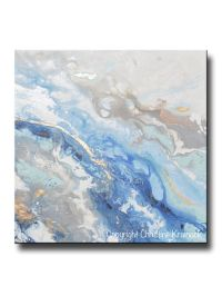 Best 20+ Blue abstract painting ideas on Pinterest | Blue ...