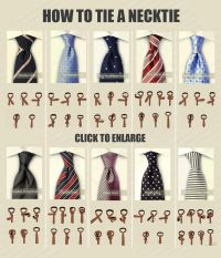 Different neck tie knots and How to knot them | Men's Ties ...