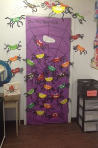 The Very Busy Spider. Eric Carle Door Decorating in grade ...