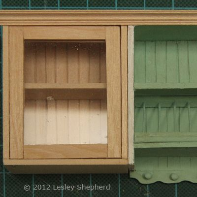 Make Glass Front Upper Kitchen Cabinets For The Dollhouse