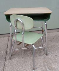 Vintage 1966 Mid Century Modern Child's School Desk and ...