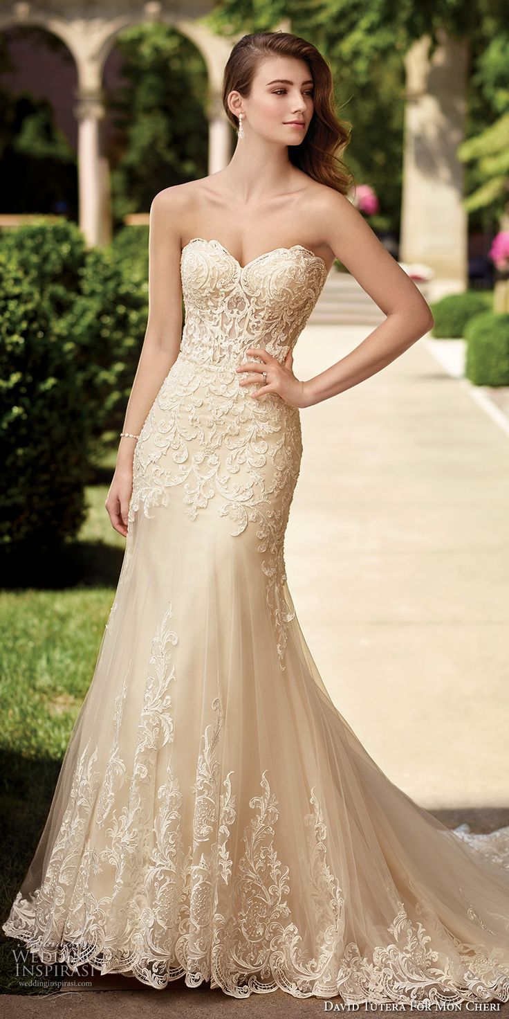 mon cheri wedding dresses ivory wedding dresses David Tutera for Mon Cheri Spring Wedding Dresses