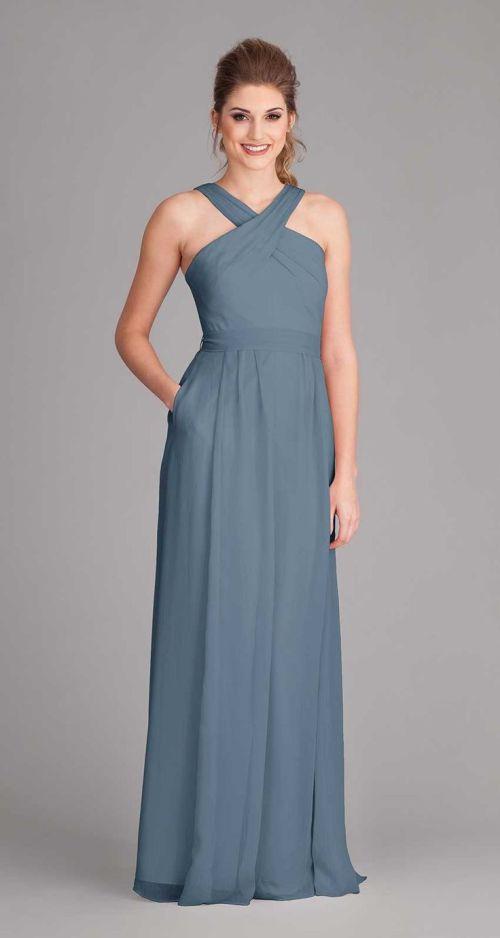 Medium Of Slate Blue Bridesmaid Dresses