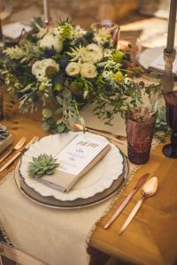 rustic modern romantic table place setting