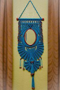 Macrame wall hanger with mirror | Macrame DIY crafts ...
