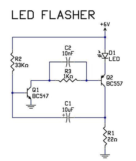 12v led flasher circuit for pinterest