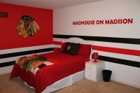 NHL chicago blackhawks hockey sports boys bedroom | home ...