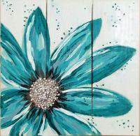 25+ best ideas about Flower Canvas on Pinterest   Flower ...