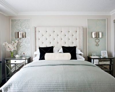 Add Dimensions And Perspective To Your Bedroom With Mirrored Bedside Tables | See more ideas ...