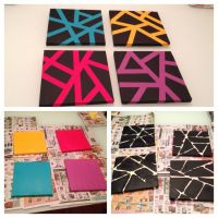 Easy canvas art with painters tape. | Painting ideas ...