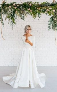 1324 best images about 3/4 sleeve wedding dresses. on ...