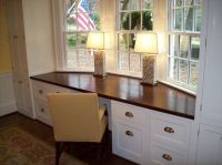 bay window desk   Studio/Office   Pinterest   Built in ...
