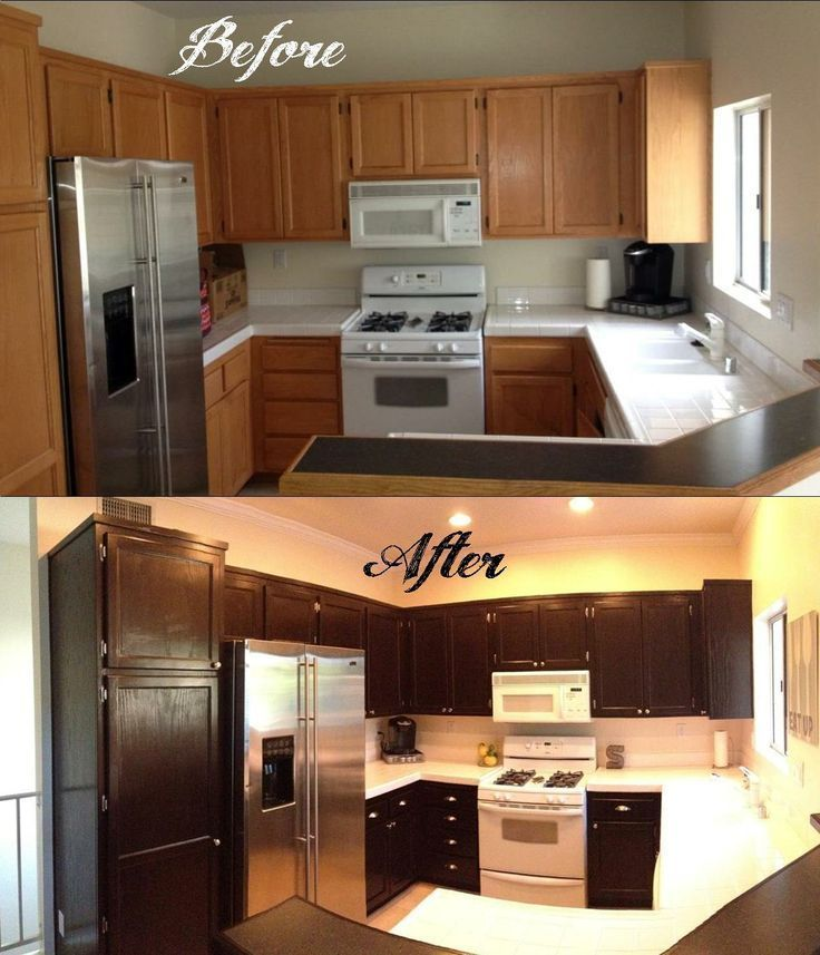 Java Stained Kitchen Cabinets How To Gel Stain Your Kitchen Cabinets When My Husband And
