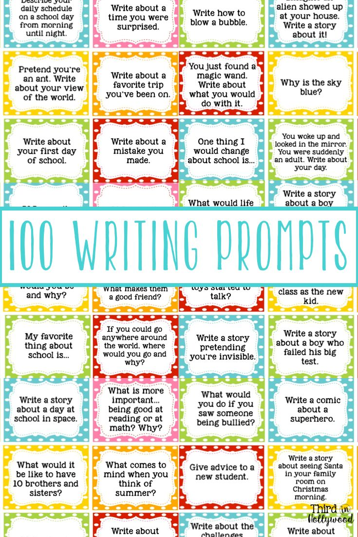 Holiday Writing Prompts For 4th Graders 6th Grade