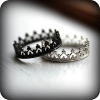 Black crown ring - oxidized sterling silver ring | Crown ...