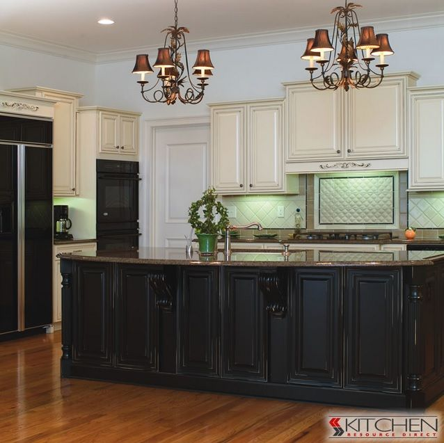 Kitchen Island Using Wall Cabinets 25 Best Images About Two-toned Kitchen Cabinets On