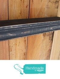 Floating Black MANTLE SHELF, Wall shelf, CEDAR, Distressed ...
