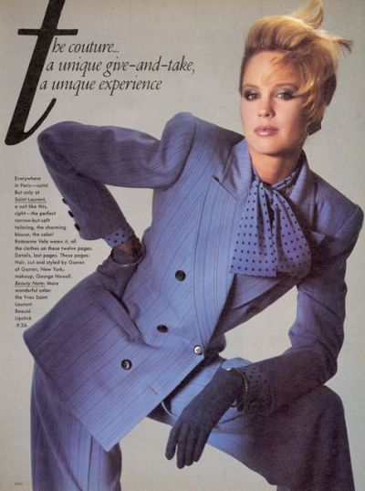 Women would 'dress for success' during the 80s and rocked a power suit! With the wide shoulders ...