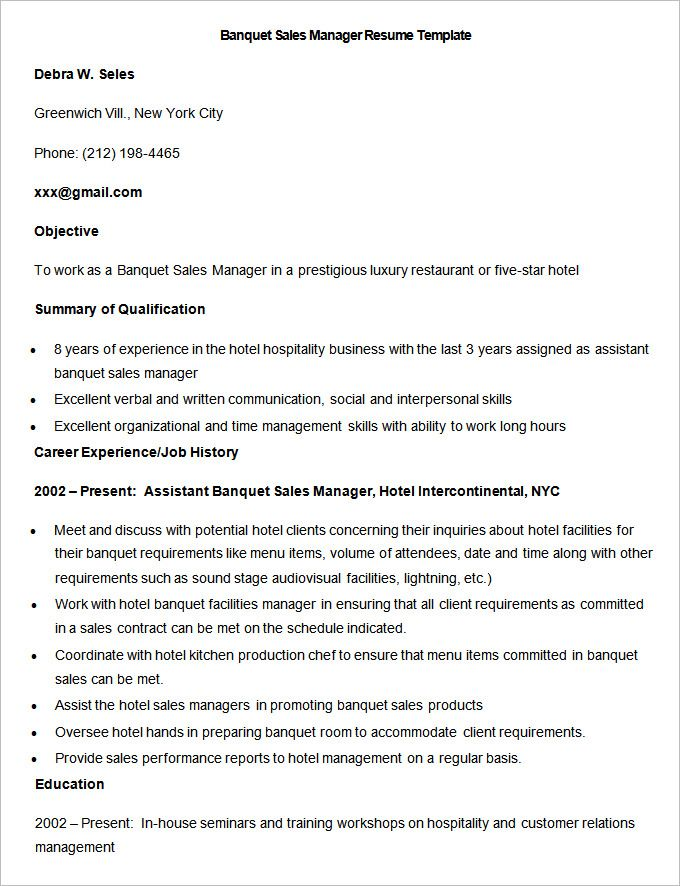 hotel sales assistant sample resume node494 cvresume cloud
