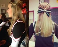 25+ best ideas about Cute cheerleading hairstyles on ...