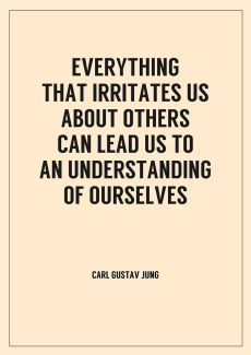 Everything that irritates us about others can lead us to an understanding of ourselves ~ Carl Jung❤️☀️
