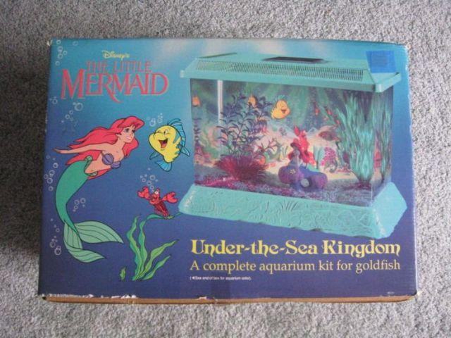 Ariel, the little mermaid gold fish aquarium purple tank Disney Toy
