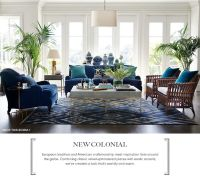 Indigo and turquoise, white and rattan, ginger jars, gold ...