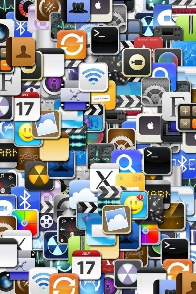 iPhone icon collage art ihone wallpaper busy graphics background | iphone wallpapers 2 Lock ...