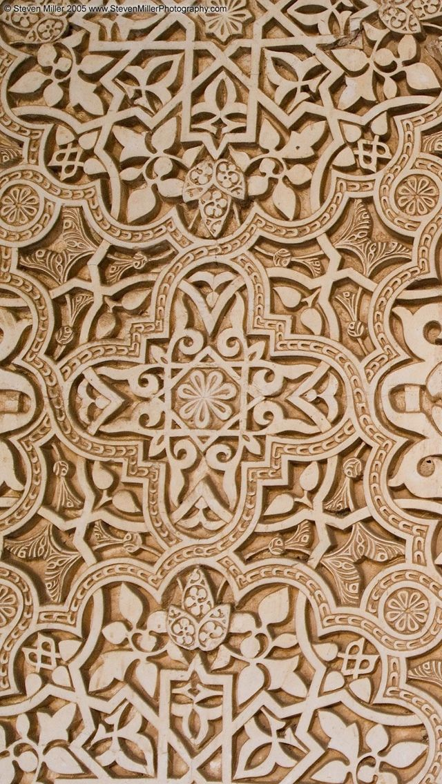 Imran 3d Wallpaper Arabic Pattern Alhambra Texture Wallpaper Iphone 5 640