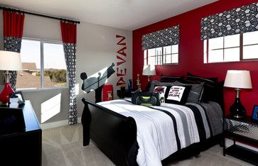 Bright Turquoise Wallpaper For Girls Room Ninja Karate Bedroom For A Teen Boy Red Black White