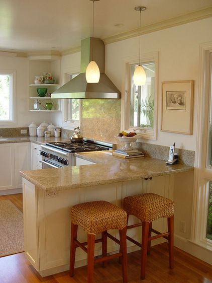 Kitchen Island With Seating On Both Sides Kitchens With Seating At A Peninsula | Traditional Kitchen