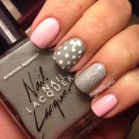 Grey & Pink nails | Be-autiful | Pinterest | Nail nail ...